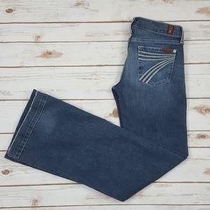 7 For All Mankind Dojo Jeans Women's Sz 26 X 32